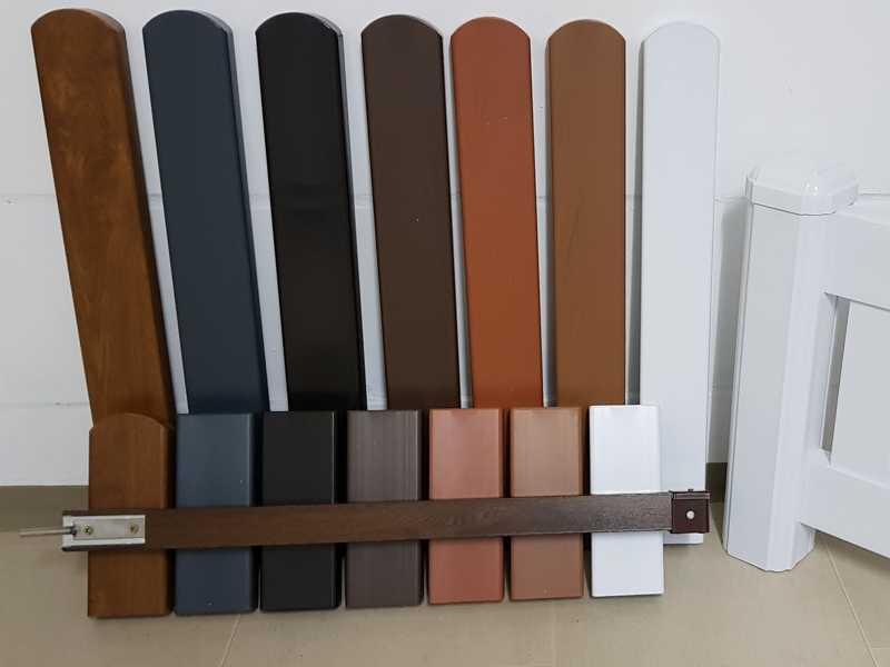 gartenzaun aus kunststoff wei und in farbe. Black Bedroom Furniture Sets. Home Design Ideas