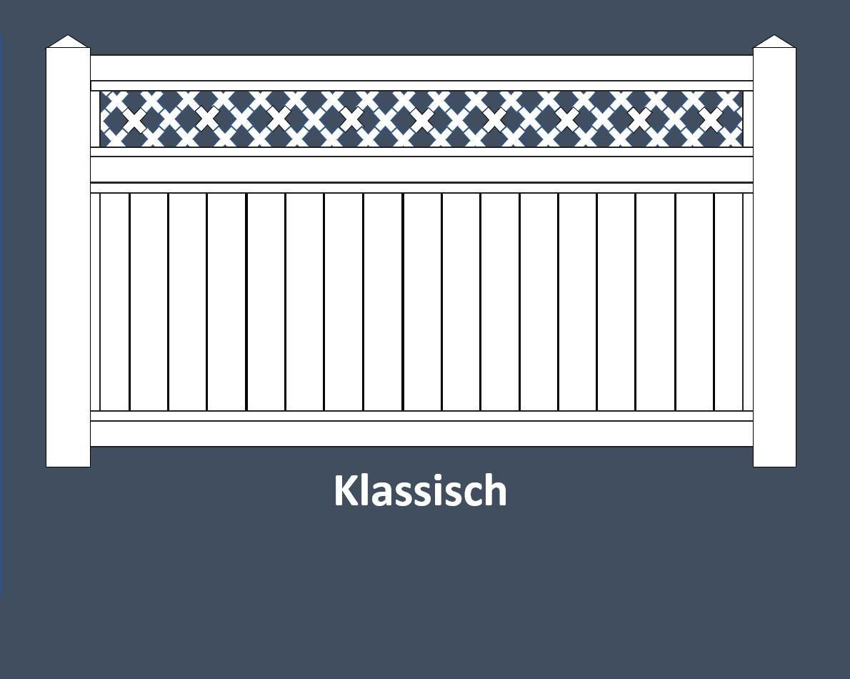 Sichtschutzzaune Aus Kunststoff Weiss Und Farbig In 6 Formen